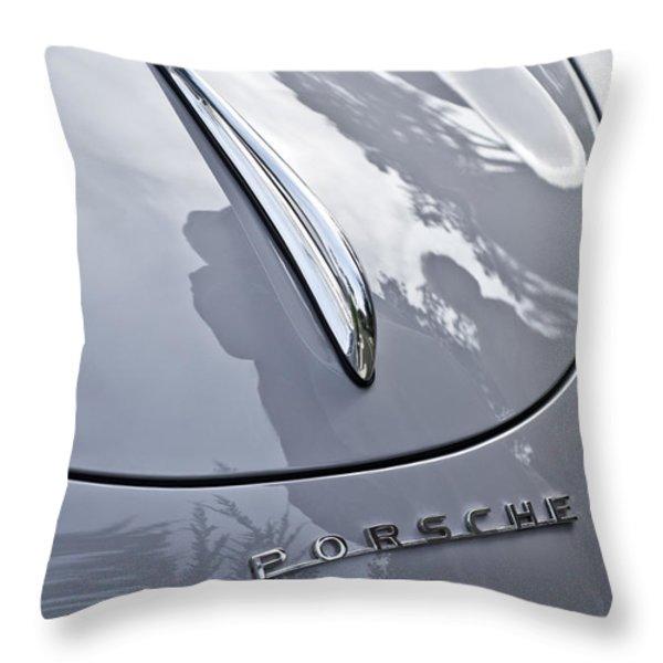 1952 Porsche Hood Ornament Throw Pillow by Jill Reger