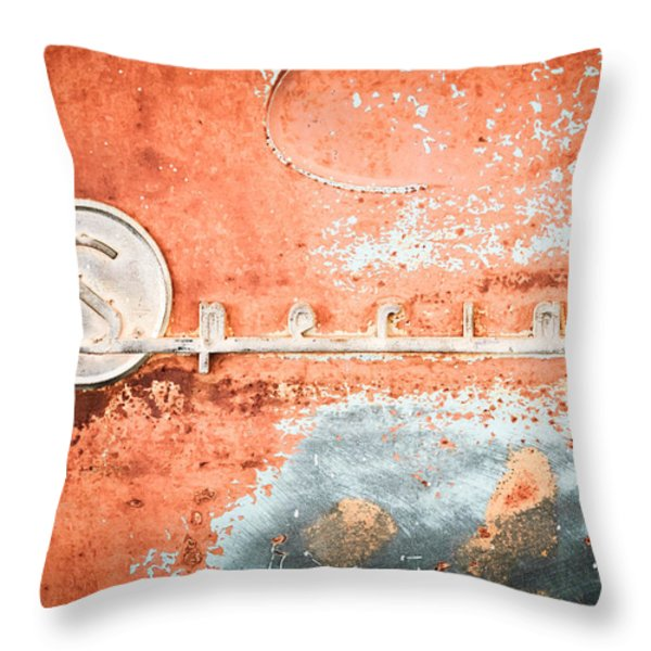 1954 Buick Special Emblem Throw Pillow by Jill Reger