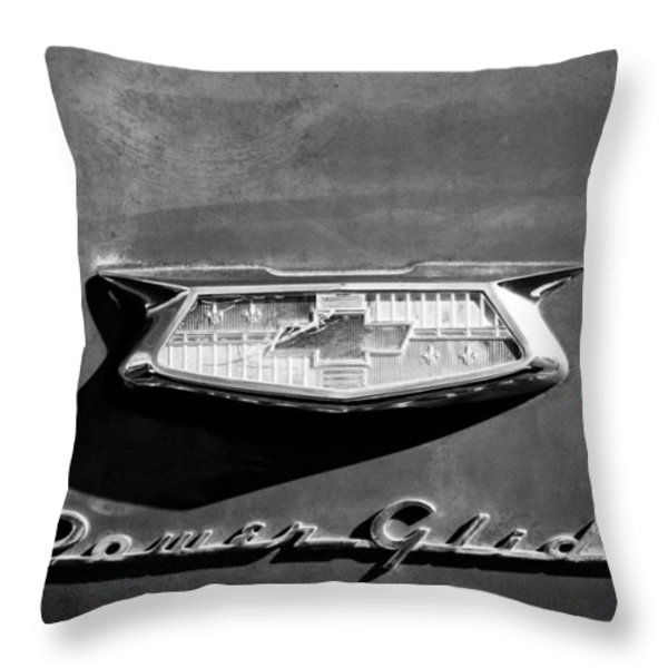 1954 Chevrolet Power Glide Emblem Throw Pillow by Jill Reger