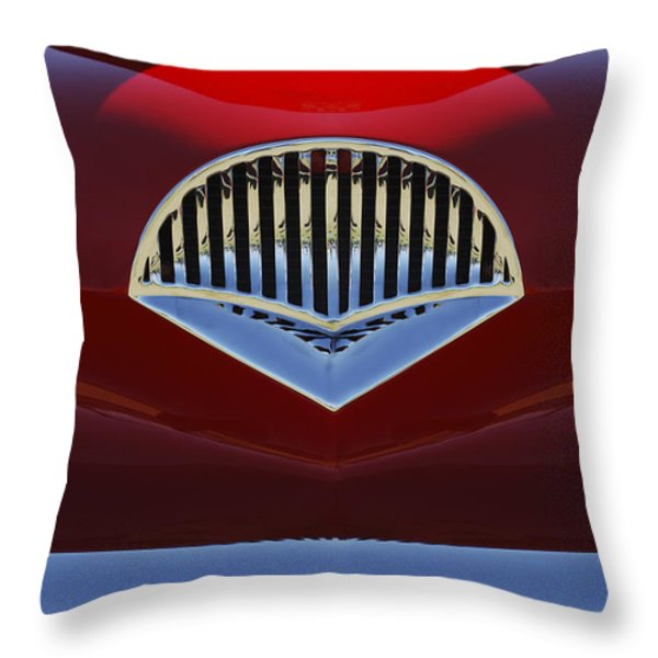 1954 Kaiser Darrin Grille Throw Pillow by Jill Reger