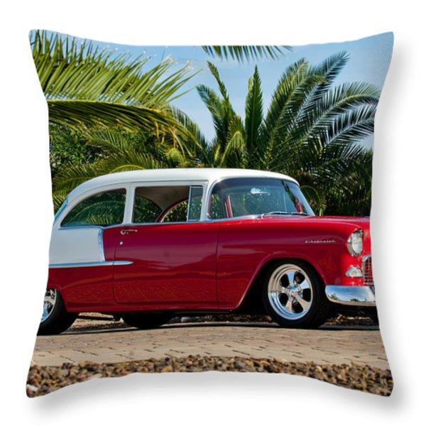 1955 Chevrolet 210 Throw Pillow by Jill Reger