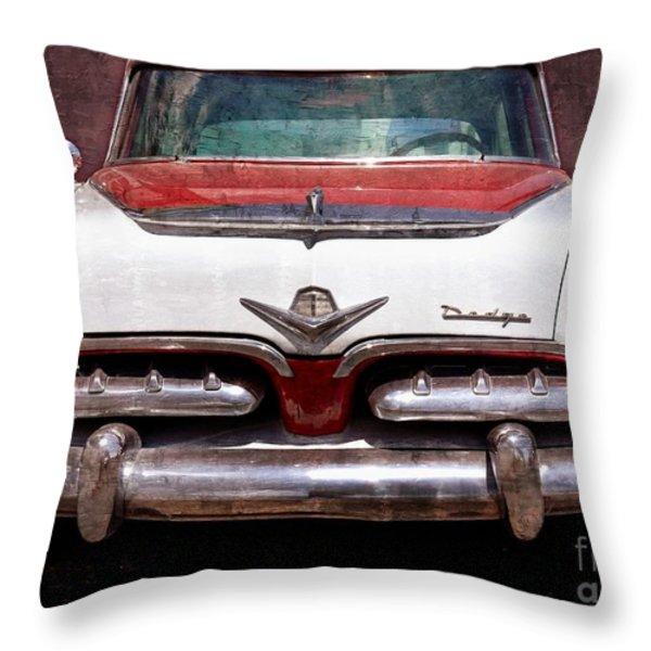 1955 Dodge in Oil Throw Pillow by Steve Kelley