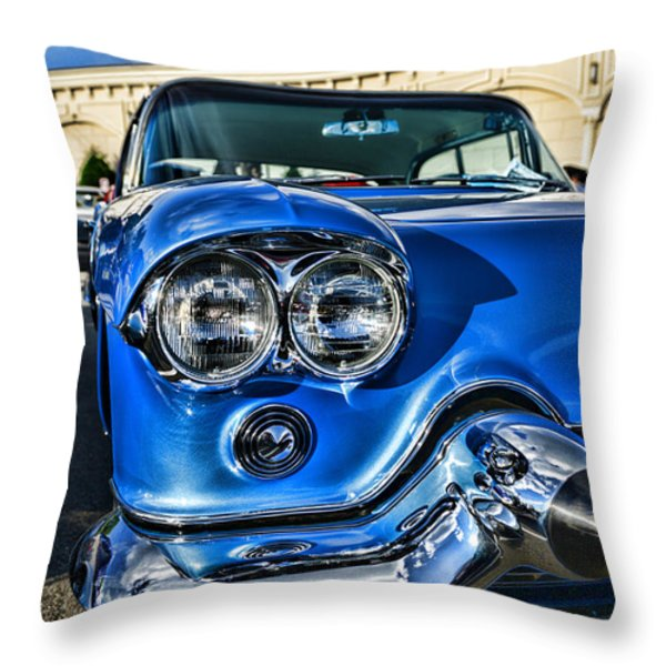 1956 Cadillac Eldorado  Throw Pillow by Paul Ward