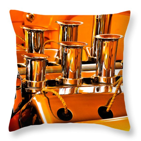 1956 Chrysler Hot Rod Throw Pillow by Jill Reger