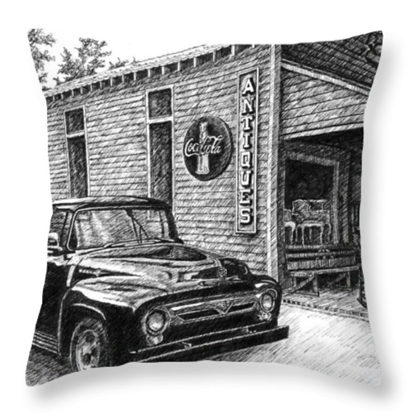 1956 Ford F-100 Truck Throw Pillow by Janet King