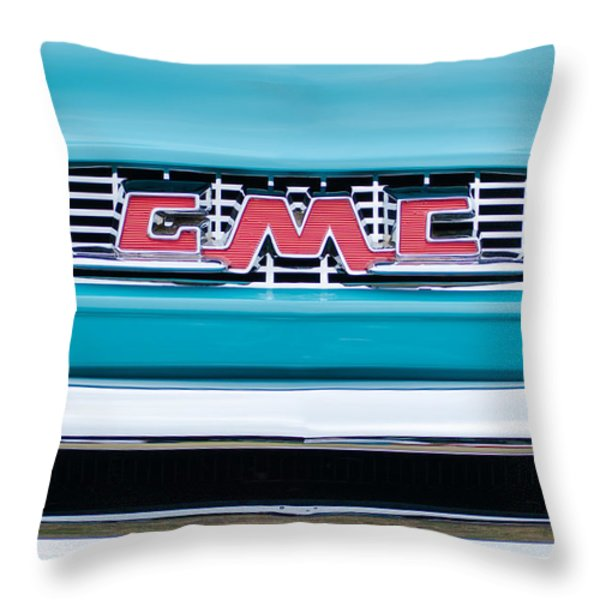 1956 Gmc 100 Deluxe Edition Pickup Truck Throw Pillow by Jill Reger