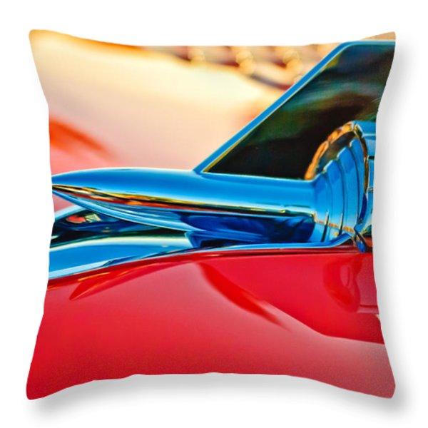 1957 Chevrolet Belair Hood Ornament Throw Pillow by Jill Reger