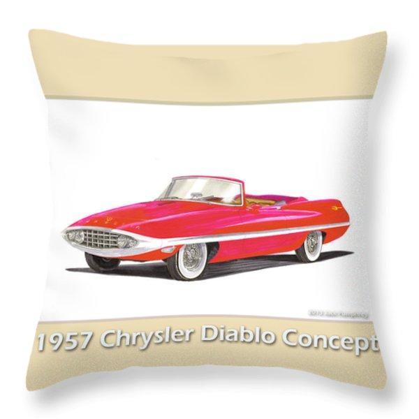 1957 Chrysler Diablo Convertible Coupe Throw Pillow by Jack Pumphrey