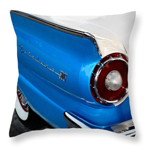 1957 Ford Fairlane 500 Throw Pillow by Dorothy Menera