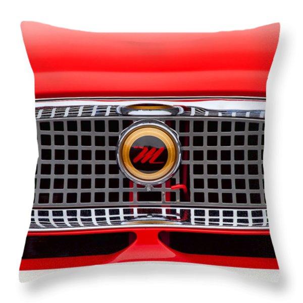 1957 Metropolitan Throw Pillow by Carol Leigh