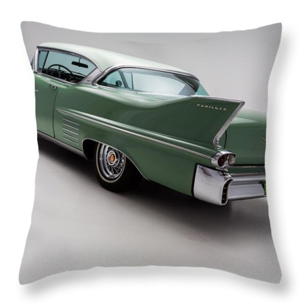 1958 Cadillac Deville Throw Pillow by Gianfranco Weiss
