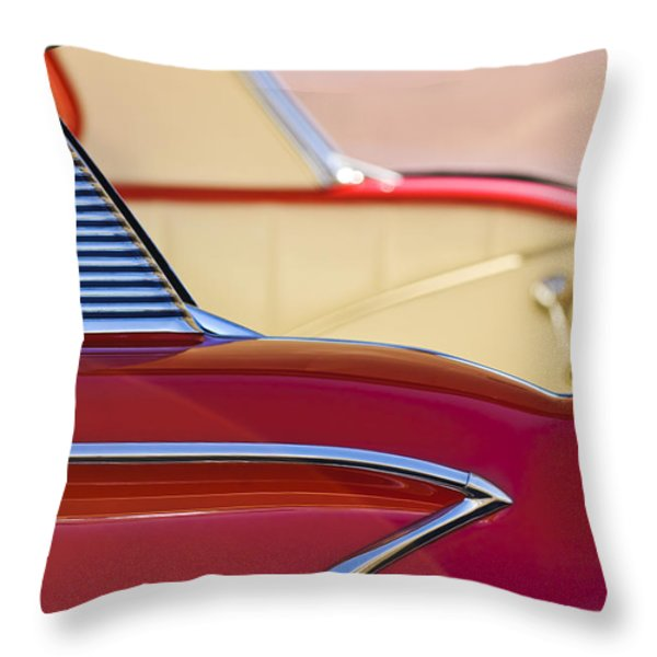 1958 Chevrolet Belair Abstract Throw Pillow by Jill Reger