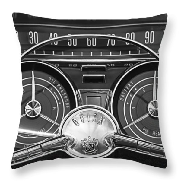 1959 Buick Lasabre Steering Wheel Throw Pillow by Jill Reger