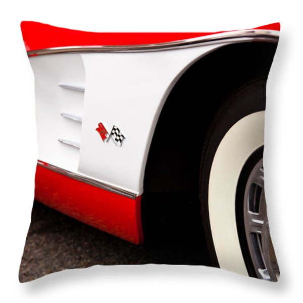 1959 Chevrolet Corvette Throw Pillow by David Patterson