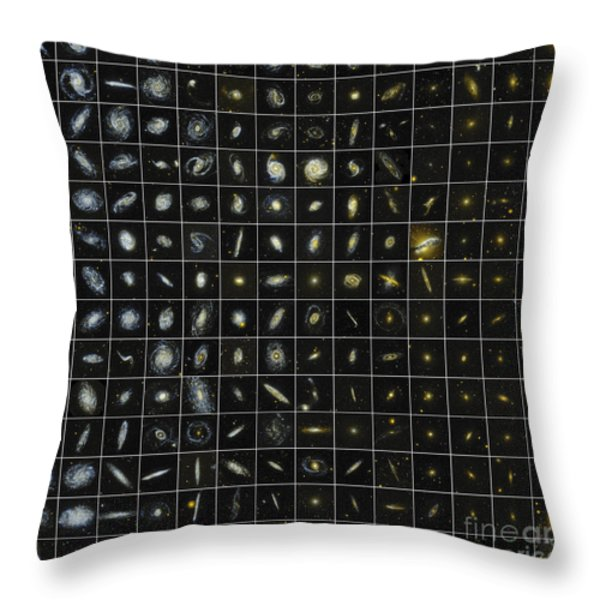 196 Galaxies Throw Pillow by Science Source