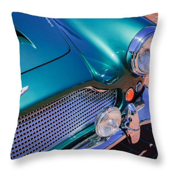 1960 Aston Martin DB4 Series II Grille Throw Pillow by Jill Reger