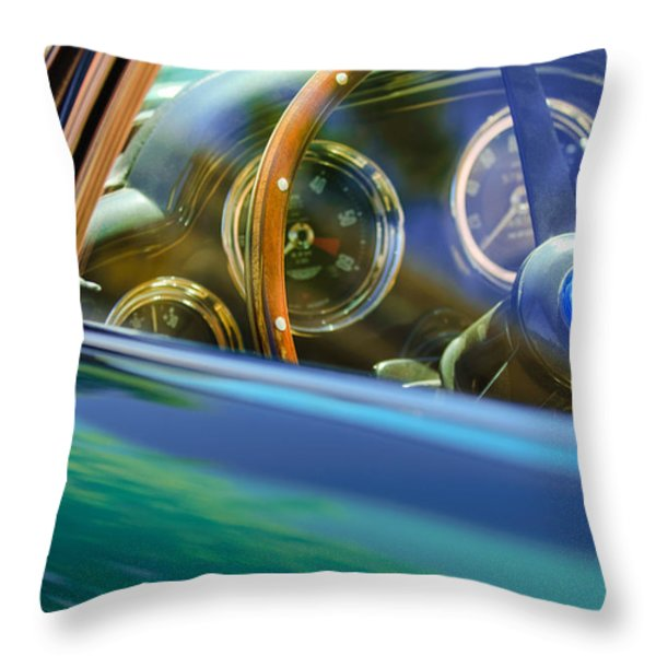 1960 Aston Martin DB4 Series II Steering Wheel Throw Pillow by Jill Reger