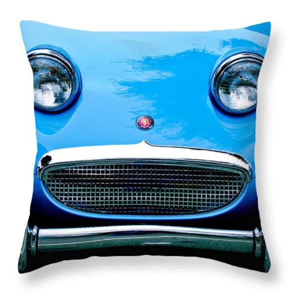 1960 Austin-Healey Sprite Throw Pillow by Jill Reger