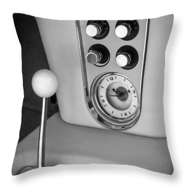 1960 Chevrolet Corvette Instruments Throw Pillow by Jill Reger