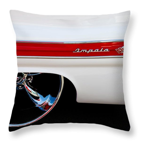 1960 Chevrolet Impala Throw Pillow by David Patterson