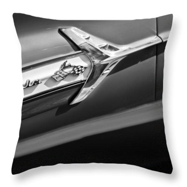 1960 Chevrolet Impala Side Emblem Throw Pillow by Jill Reger