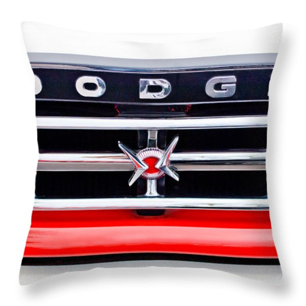1960 Dodge Truck Grille Emblem Throw Pillow by Jill Reger