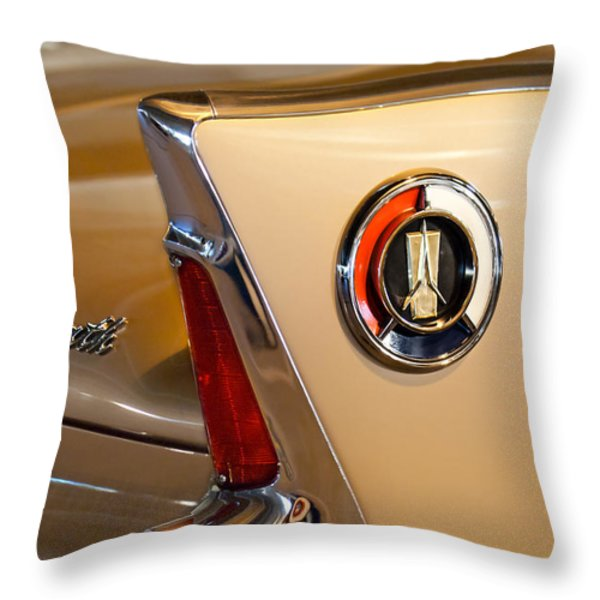 1960 Plymouth Fury Convertible Taillight and Emblem Throw Pillow by Jill Reger