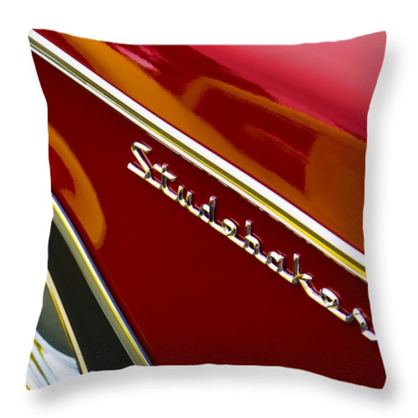 1960 Studebaker Hawk Throw Pillow by Carol Leigh