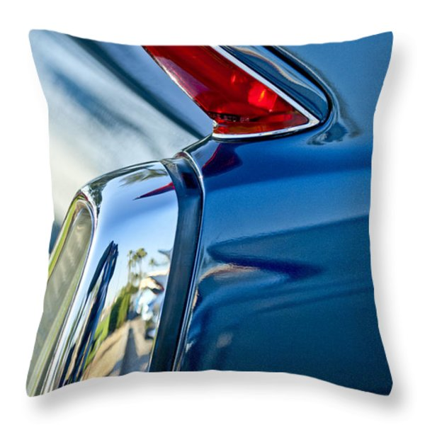 1962 Cadillac Deville Taillight Throw Pillow by Jill Reger