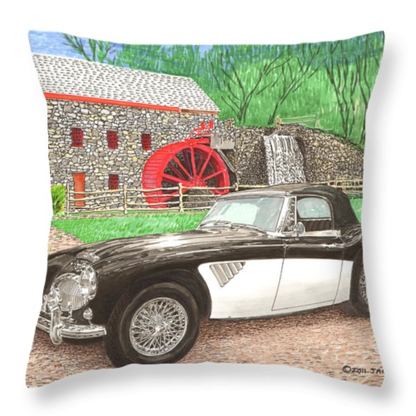 1963 Austin and Sudbury Mill Throw Pillow by Jack Pumphrey