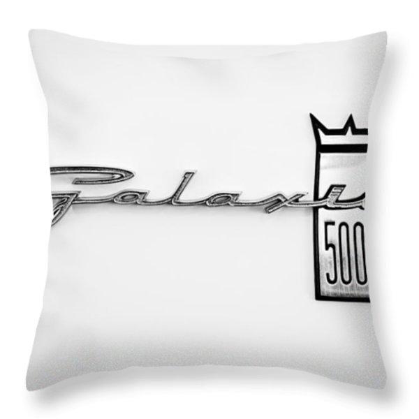 1963 Ford Galaxie 500 R-Code Factory Lightweight Emblem Throw Pillow by Jill Reger