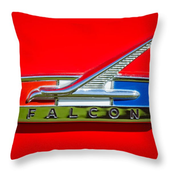 1964 Ford Falcon Emblem Throw Pillow by Jill Reger
