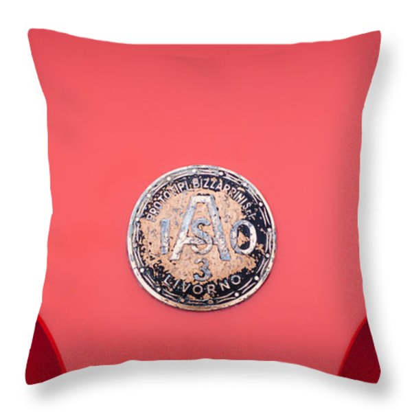 1964 Iso A3c Drogo Coupe Emblem Throw Pillow by Jill Reger