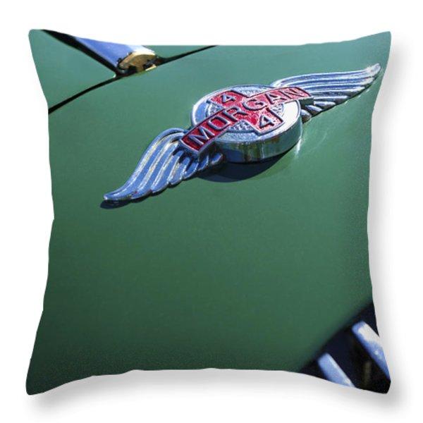 1964 Morgan 44 Hood Ornament Throw Pillow by Jill Reger