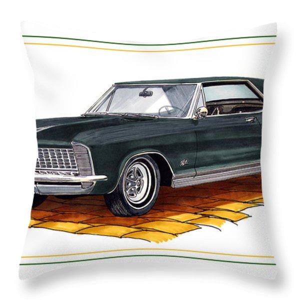 1965 Buick Riviera Custom Throw Pillow by Jack Pumphrey