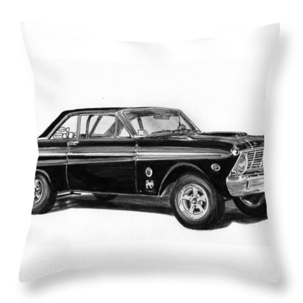 1965 Ford Falcon Street Rod Throw Pillow by Jack Pumphrey