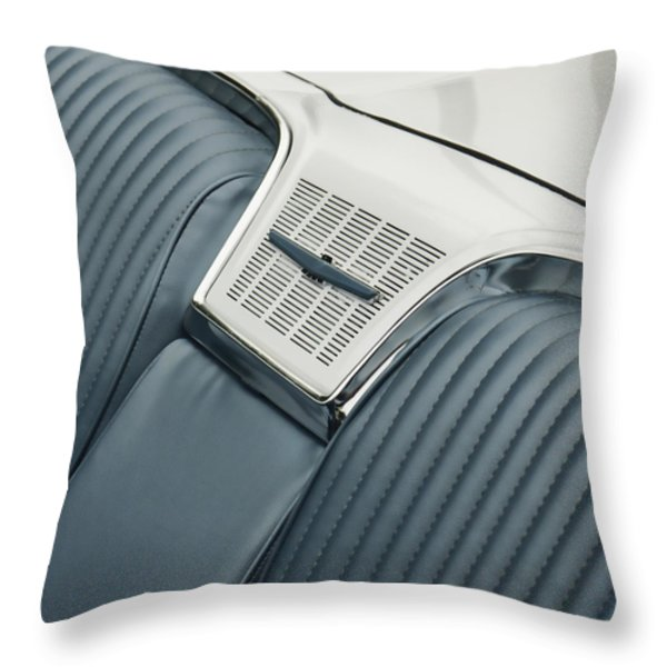 1965 Ford Thunderbird Convertible Throw Pillow by Carol Leigh