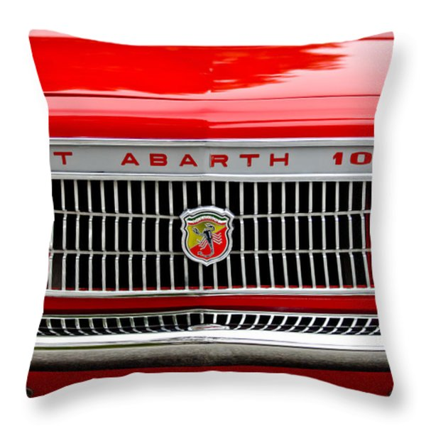 1967 Fiat Abarth 1000 OTR Grille Throw Pillow by Jill Reger