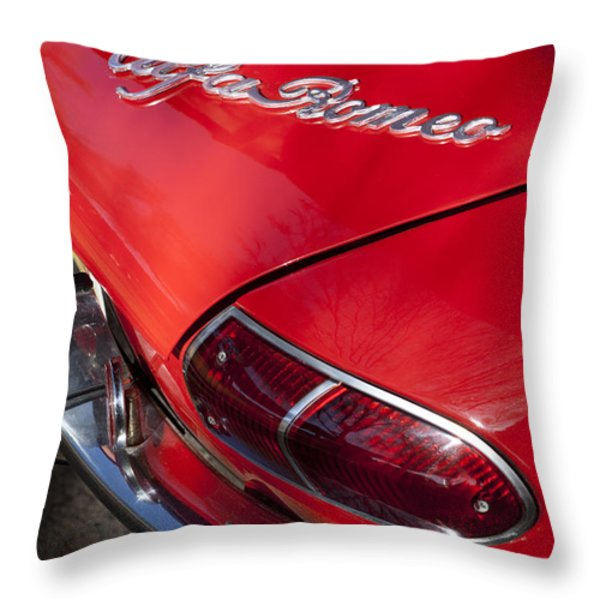 1969 Alfa Romeo 1750 Spider Taillight Emblem Throw Pillow by Jill Reger