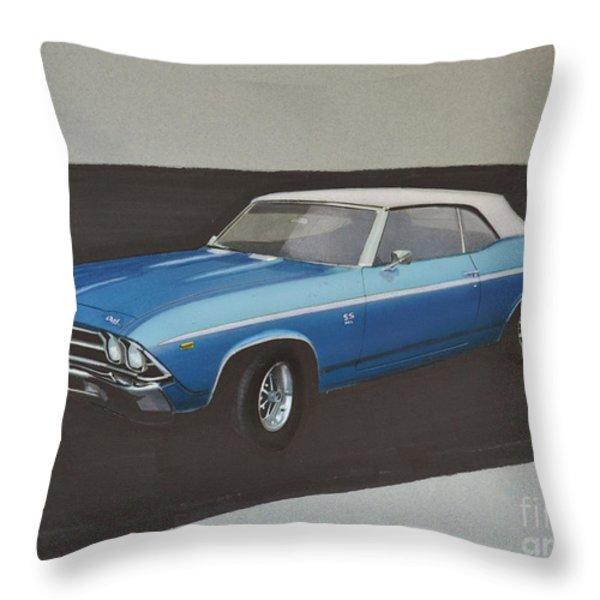 1969 Chevelle Throw Pillow by Paul Kuras