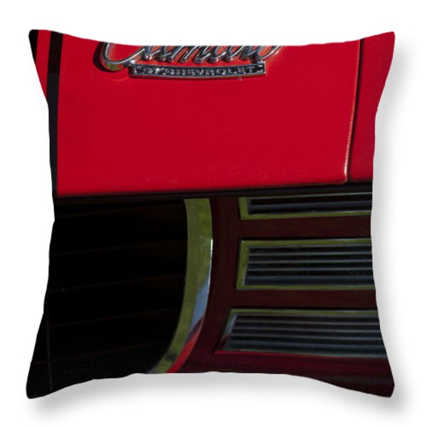 1969 Chevrolet Camaro Rally Sport Emblem Throw Pillow by Jill Reger