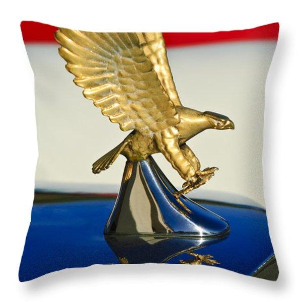 1986 Zimmer Golden Spirit Hood Ornament Throw Pillow by Jill Reger