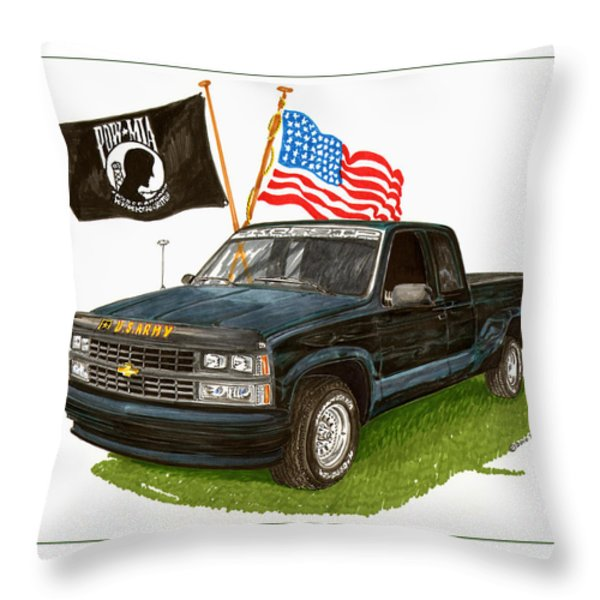1988 Chevrolet M I A Tribute Throw Pillow by Jack Pumphrey