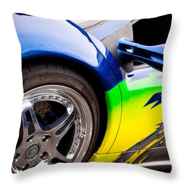1995 Lamborghini Diablo Throw Pillow by David Patterson