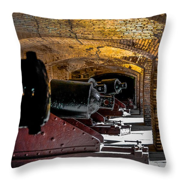 19th Century Cannon Line Throw Pillow by Optical Playground By MP Ray