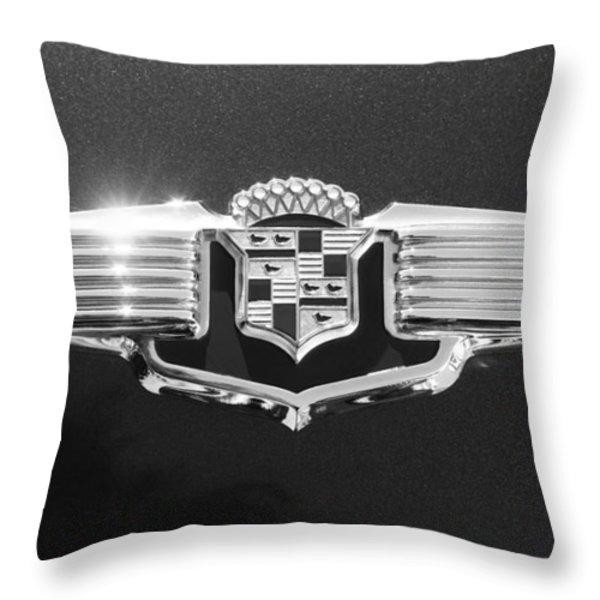 1941 Cadillac Emblem Throw Pillow by Jill Reger