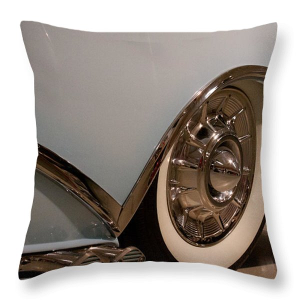 1954 Buick Century Convertible Throw Pillow by David Patterson