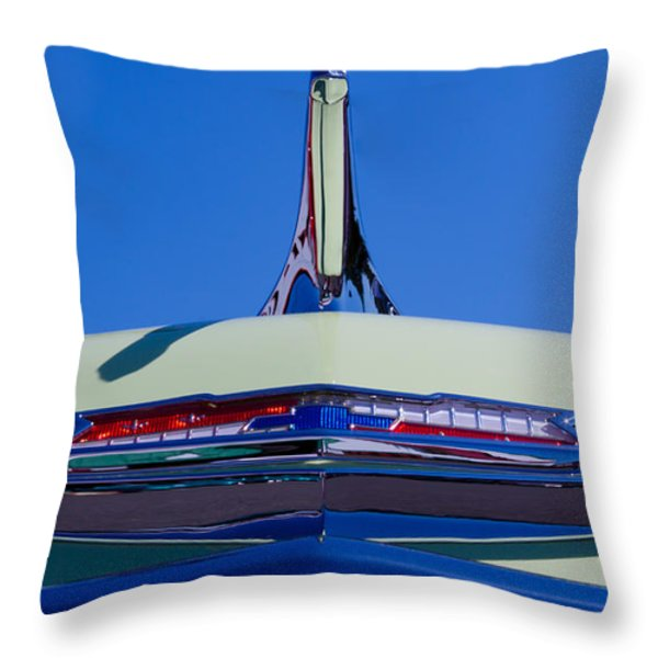 1956 Chevy Bel Air Custom Hot Rod Throw Pillow by David Patterson