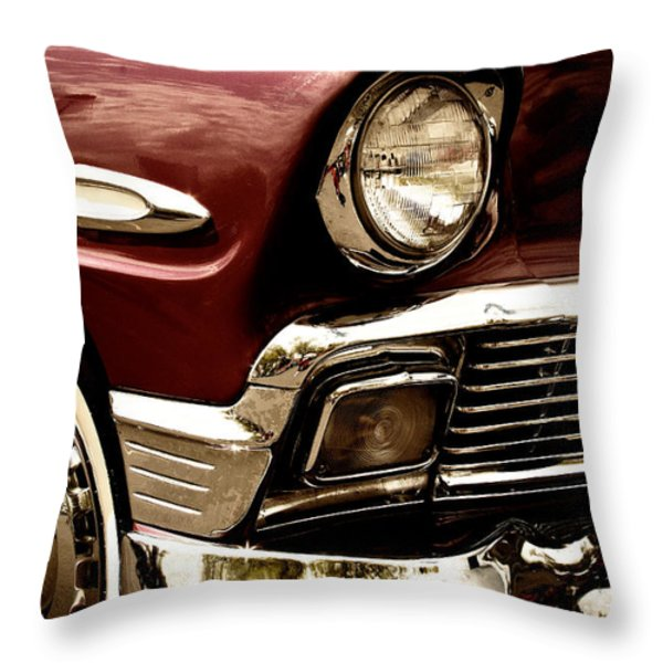 1956 Chevy Bel Air Throw Pillow by David Patterson