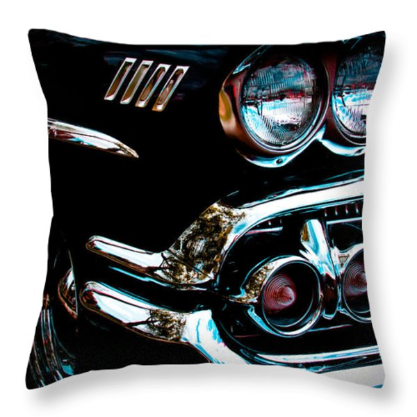 1958 Chevy Bel Air Throw Pillow by David Patterson